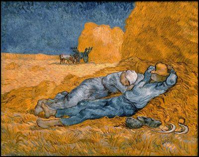 """Midi - Repos du travail"" par Vincent Van Gogh"